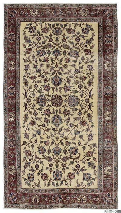 "Turkish Vintage Area Rug - 4'10"" x 8'7"" (58 in. x 103 in.)"