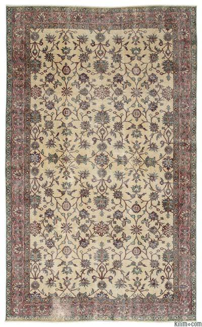 Turkish Vintage Area Rug - 5'3'' x 8'8'' (63 in. x 104 in.)