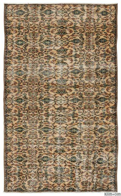 "Turkish Vintage Area Rug - 4'5"" x 7'5"" (53 in. x 89 in.)"