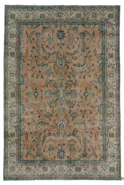 Turkish Vintage Area Rug - 6'10'' x 9'11'' (82 in. x 119 in.)