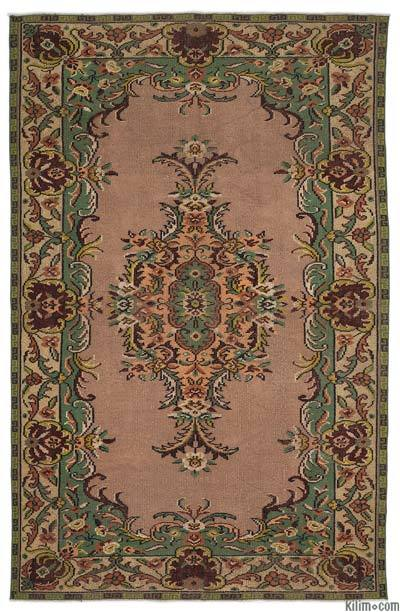 Turkish Vintage Area Rug - 6' x 9'5'' (72 in. x 113 in.)