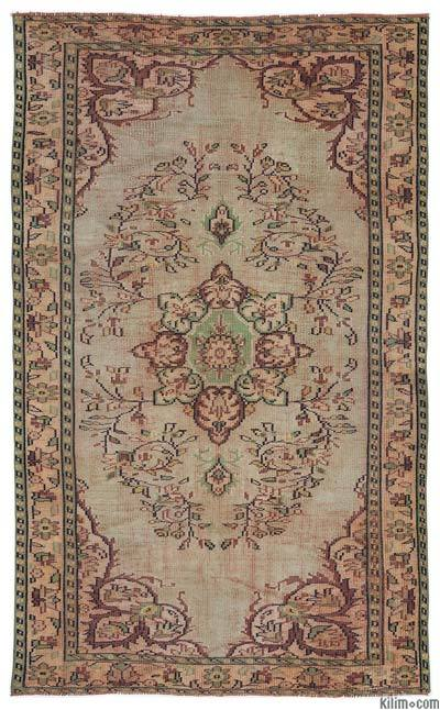 "Turkish Vintage Area Rug - 4'10"" x 8'1"" (58 in. x 97 in.)"