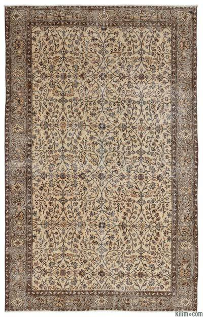 Turkish Vintage Area Rug - 6'2'' x 9'6'' (74 in. x 114 in.)