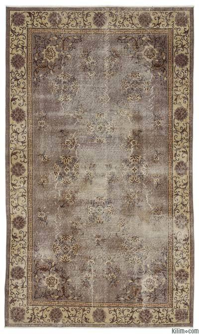 "Turkish Vintage Area Rug - 5'4"" x 9'2"" (64 in. x 110 in.)"