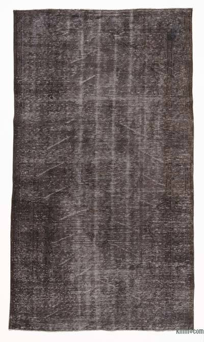 Grey Over-dyed Turkish Vintage Rug - 5'4'' x 9' (64 in. x 108 in.)