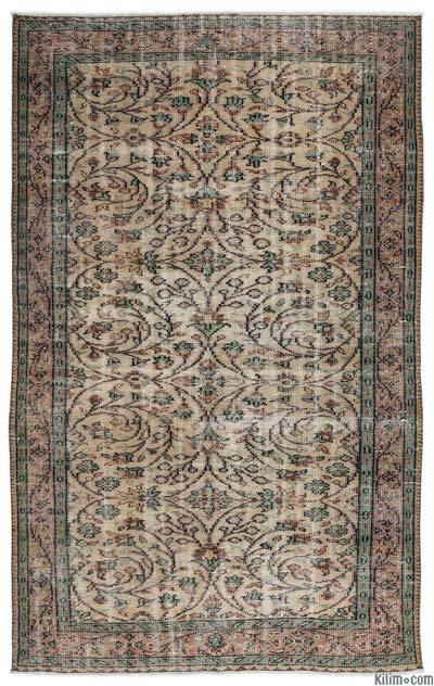 Turkish Vintage Area Rug - 4'10'' x 7'10'' (58 in. x 94 in.)