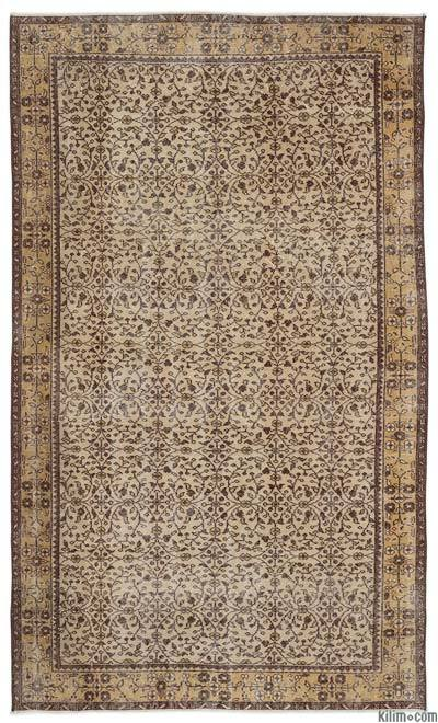 Turkish Vintage Area Rug - 5'5'' x 9'1'' (65 in. x 109 in.)
