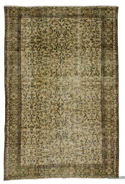 Turkish Vintage Area Rug - 5'9'' x 8'6'' (69 in. x 102 in.)