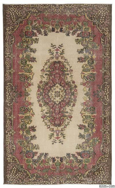 "Turkish Vintage Area Rug - 5'8"" x 9'6"" (68 in. x 114 in.)"