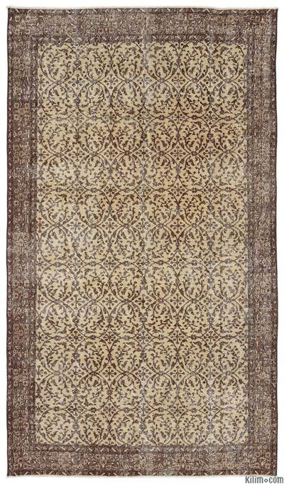 "Turkish Vintage Area Rug - 5'3"" x 9'3"" (63 in. x 111 in.)"