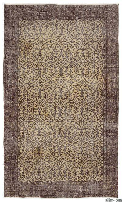 Turkish Vintage Area Rug - 4'11'' x 8'6'' (59 in. x 102 in.)