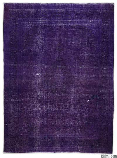 Over-dyed Vintage Rug - 9'8'' x 12'10'' (116 in. x 154 in.)