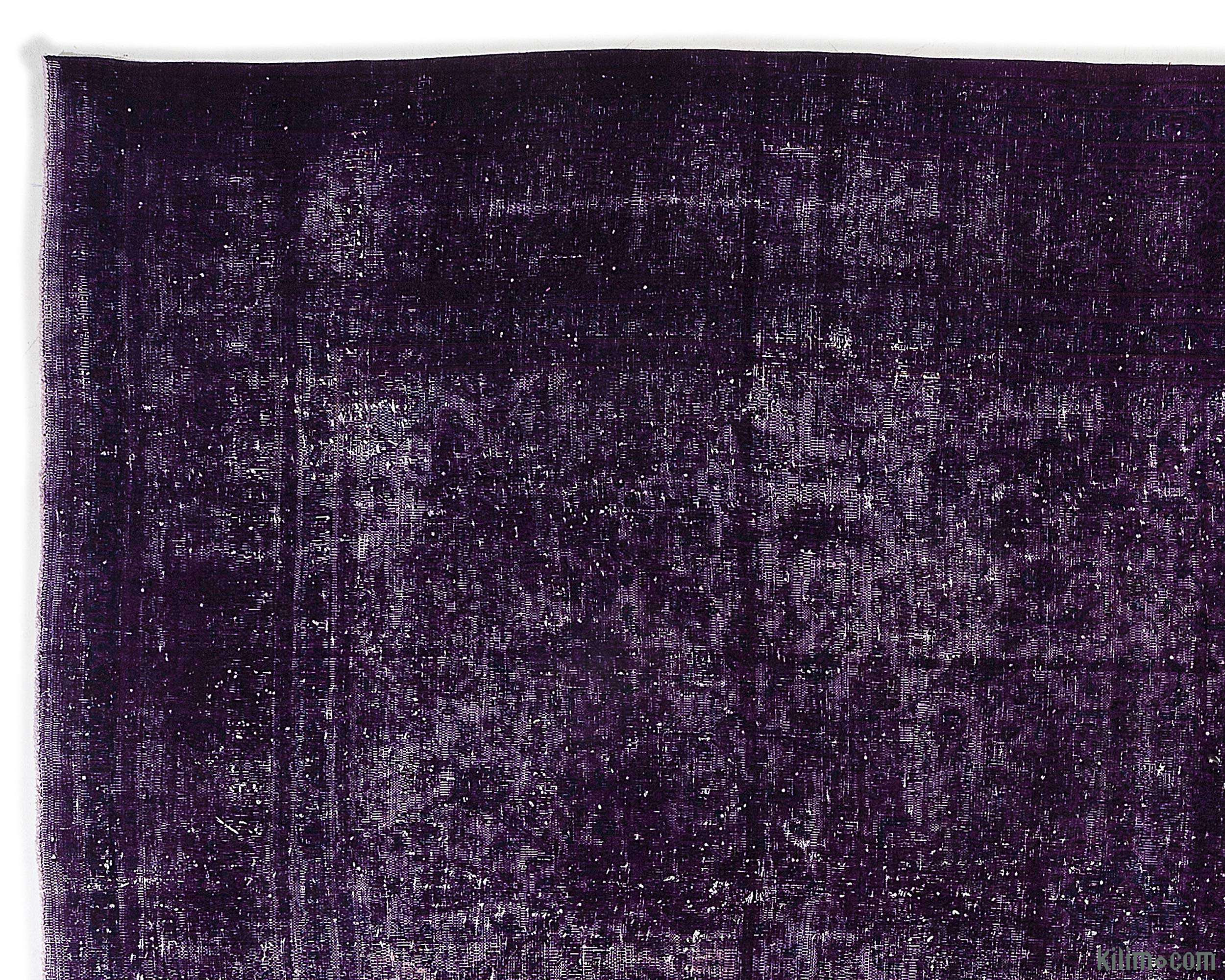 K0012168 Purple Over Dyed Vintage Hand Knotted Oriental