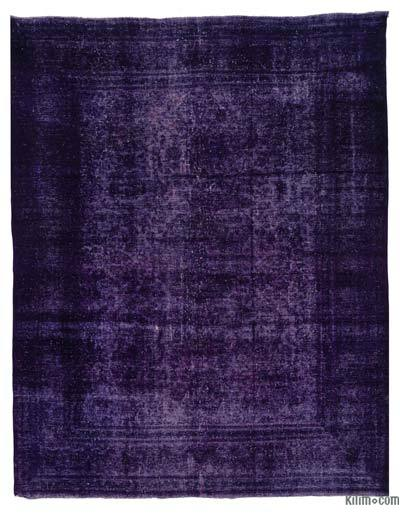 Purple Over-dyed Vintage Rug - 9'8'' x 12'6'' (116 in. x 150 in.)