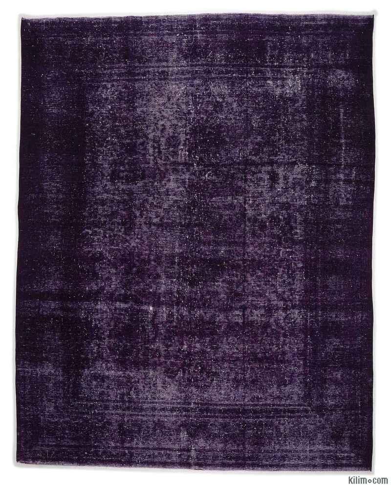 K0012168 Purple Over-dyed Vintage Rug