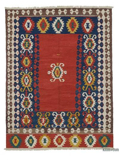 Red, Blue New Turkish Kilim Rug