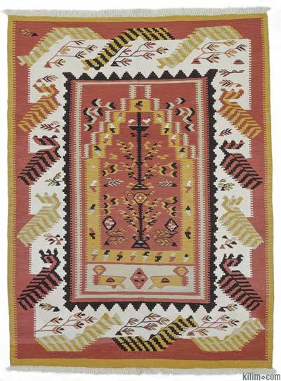 "New Handwoven Turkish Kilim Rug - 5'1"" x 8'5"" (61 in. x 101 in.)"