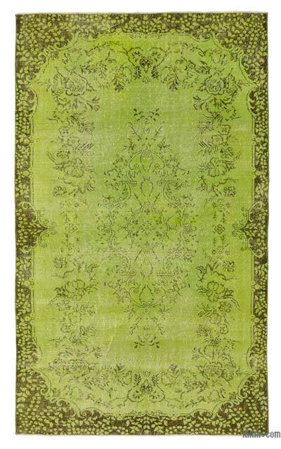Over-dyed Turkish Vintage Rug - 5'7'' x 9'6'' (67 in. x 114 in.)