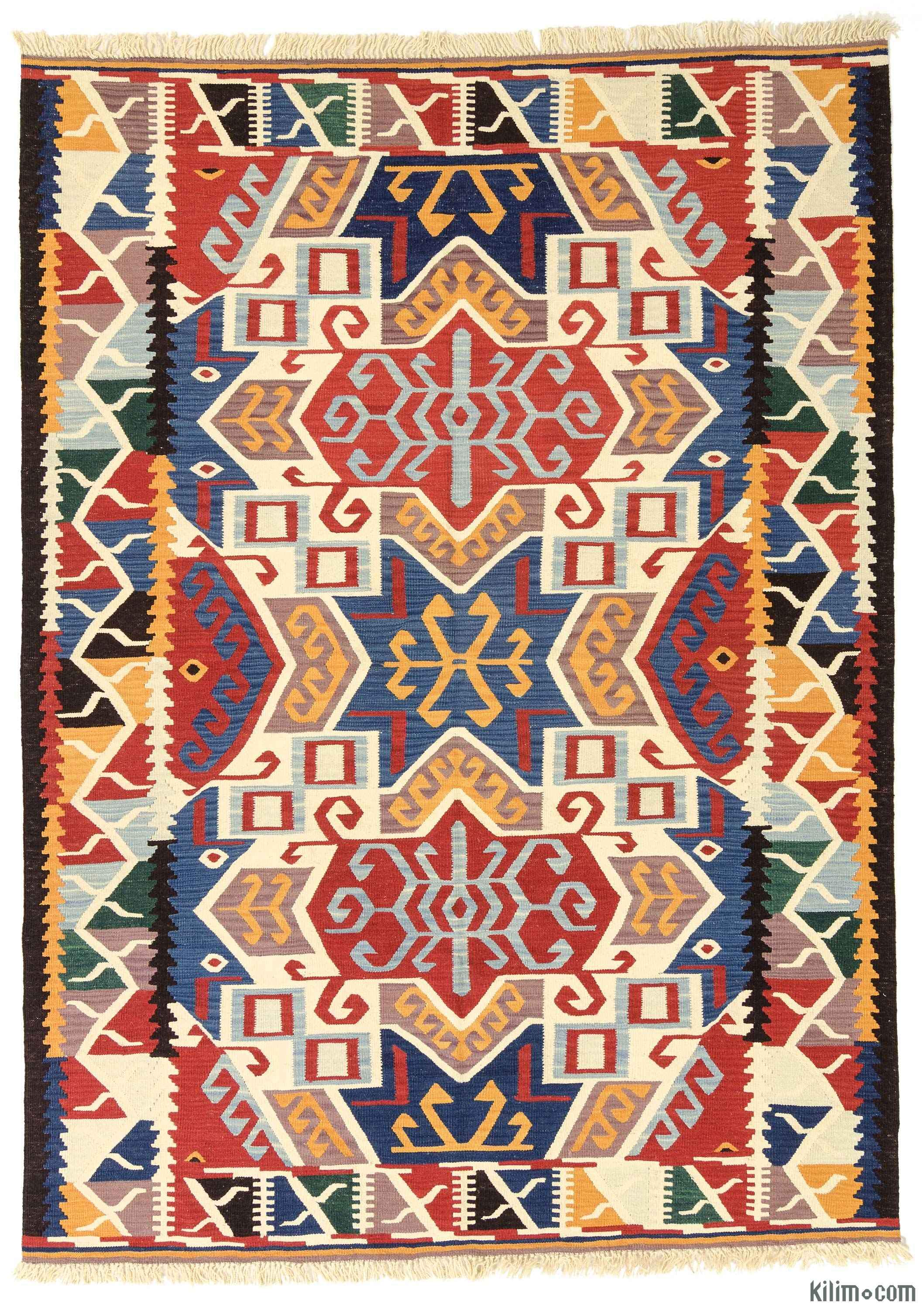 Rugs And Kilims Are The Master Elements Of Bohemian Style: K0012303 New Turkish Kilim Rug
