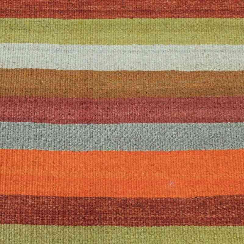 K0012313 Orange Green Vintage Turkish Kilim Runner 2 2