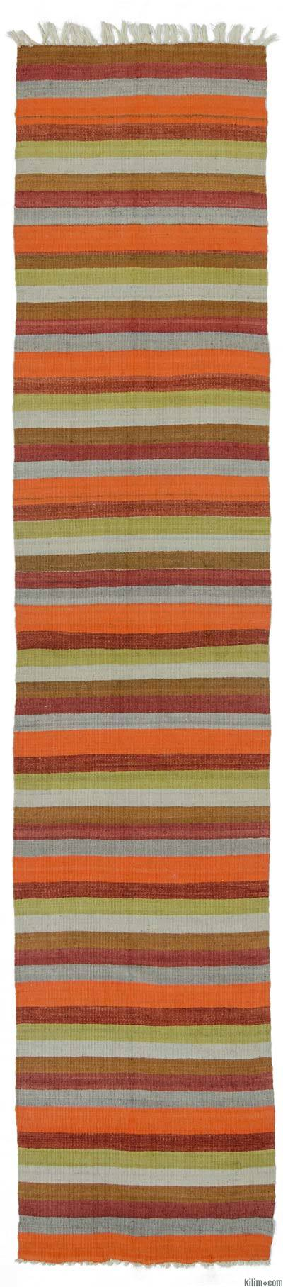 "Vintage Turkish Kilim Runner - 2'2"" x 10'10"" (26 in. x 130 in.)"