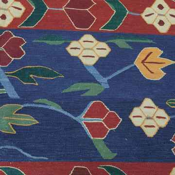Red Blue New Turkish Kilim Rug Click To Enlarge