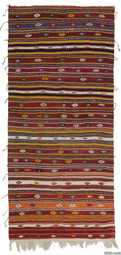 "Vintage Turkish Kilim Rug - 4'9"" x 10'9"" (57 in. x 129 in.)"