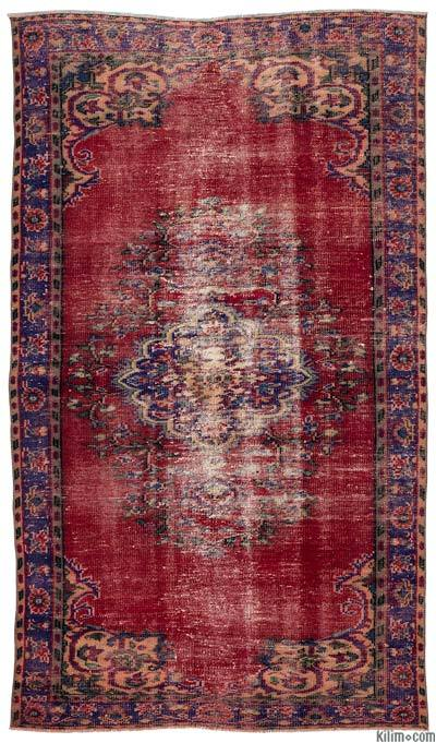Turkish Vintage Area Rug - 4'10'' x 8'4'' (58 in. x 100 in.)