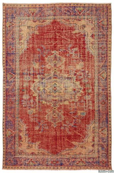 Turkish Vintage Area Rug - 5'4'' x 8'1'' (64 in. x 97 in.)