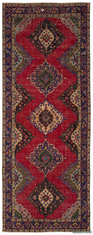 turkish vintage runner rug. k turkish vintage runner rug