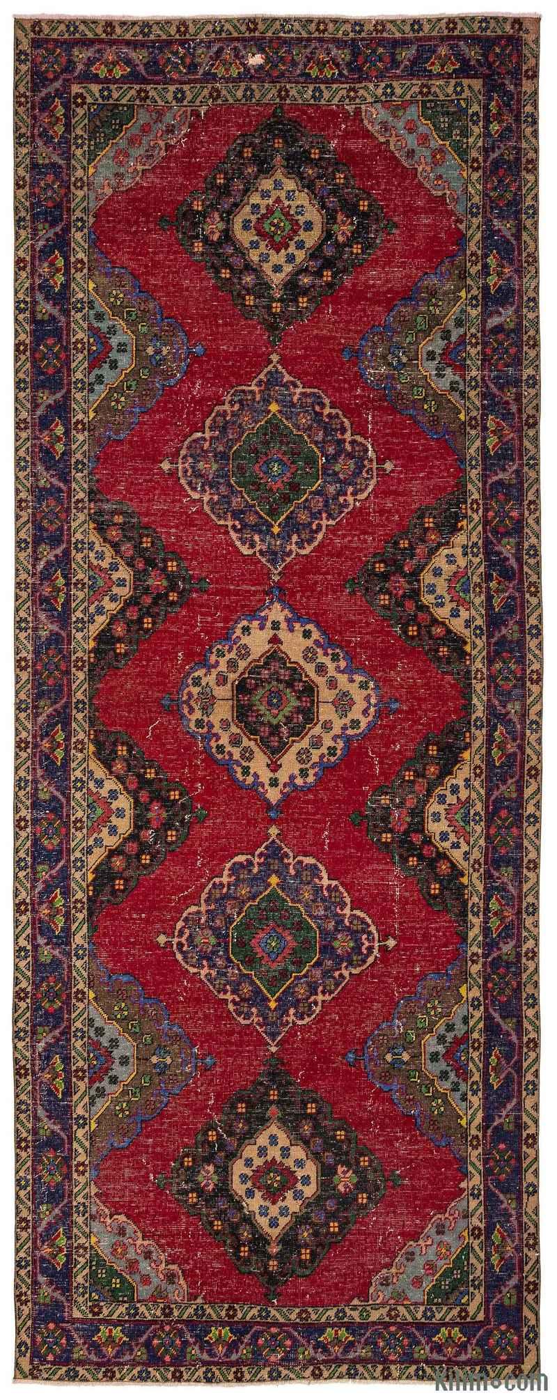 K0012517 Turkish Vintage Runner Rug 4 8 Quot X 12 2 Quot 56 In