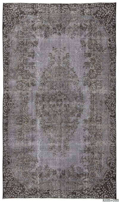 Over-dyed Turkish Vintage Rug - 5'6'' x 9'5'' (66 in. x 113 in.)