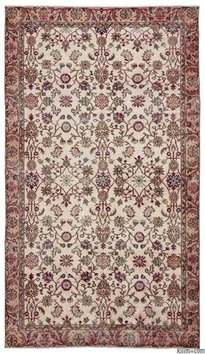 Turkish Vintage Area Rug - 5'3'' x 9'4'' (63 in. x 112 in.)