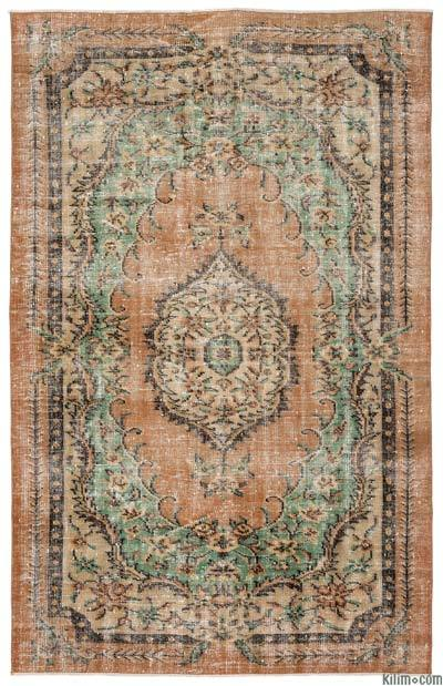 Turkish Vintage Area Rug - 5'8'' x 8'9'' (68 in. x 105 in.)
