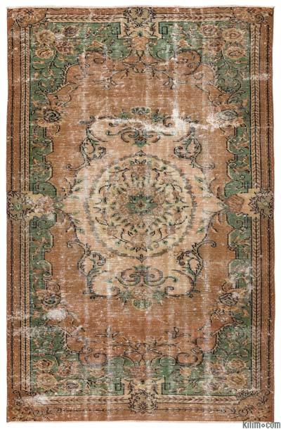 Turkish Vintage Area Rug - 5'10'' x 9' (70 in. x 108 in.)
