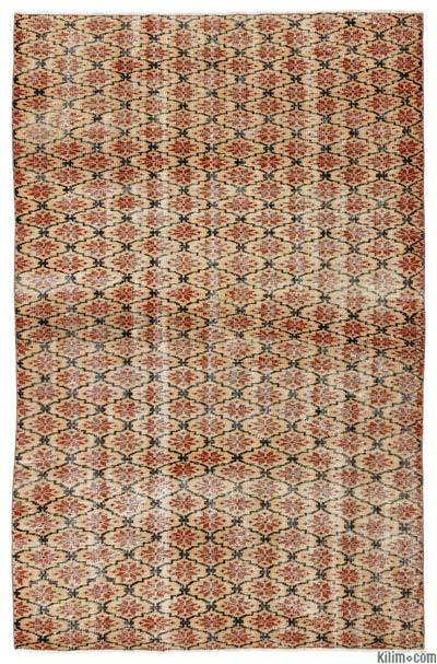 Turkish Vintage Rug - 5'3'' x 7'10'' (63 in. x 94 in.)