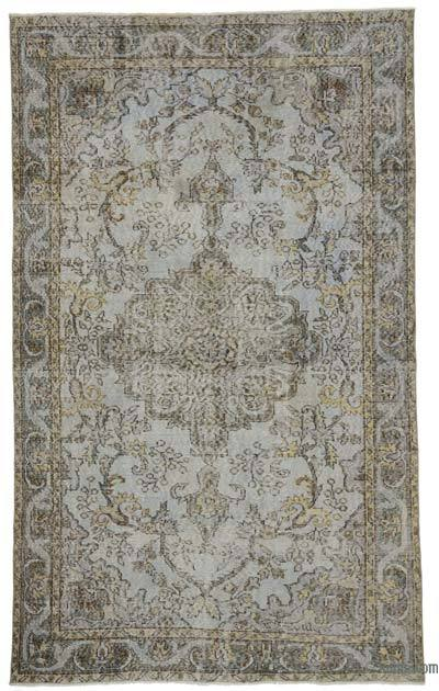 Turkish Vintage Area Rug - 5'10'' x 9'4'' (70 in. x 112 in.)
