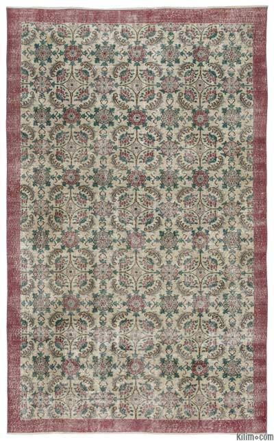 Turkish Vintage Area Rug - 5'11'' x 9'8'' (71 in. x 116 in.)
