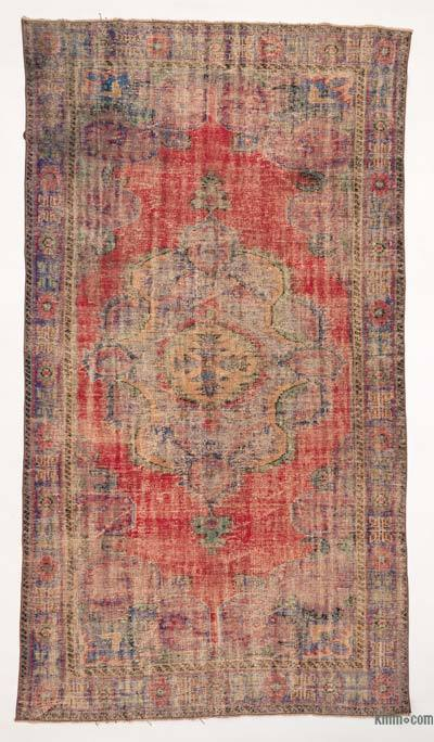 Turkish Vintage Area Rug - 5'10'' x 10'6'' (70 in. x 126 in.)