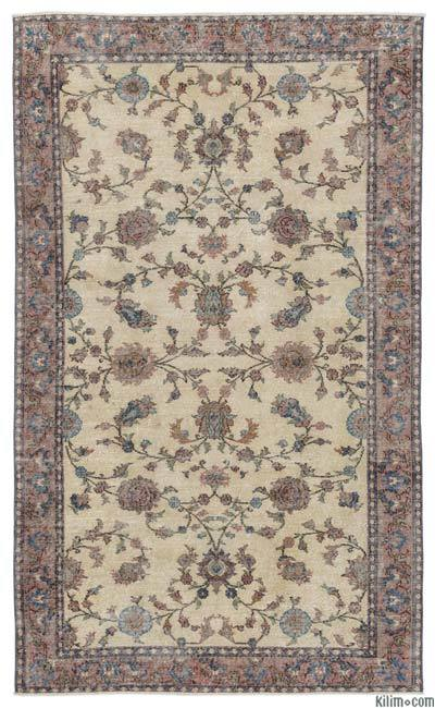 "Turkish Vintage Area Rug - 5'4"" x 8'8"" (64 in. x 104 in.)"