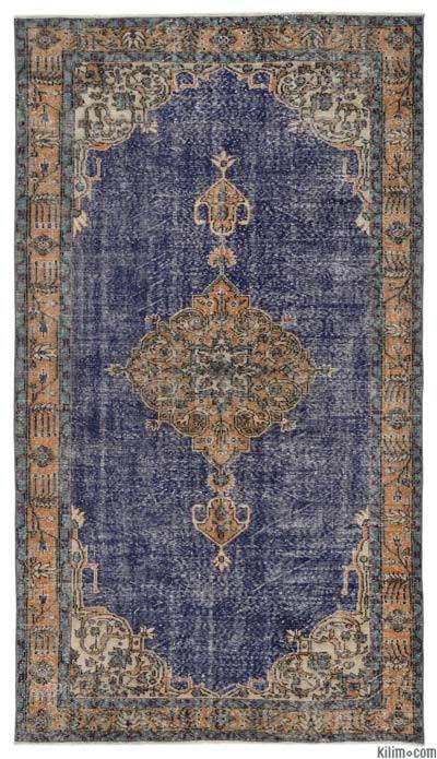 Turkish Vintage Area Rug - 5'5'' x 9'6'' (65 in. x 114 in.)