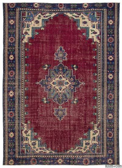 "Turkish Vintage Area Rug - 6'9"" x 9'7"" (81 in. x 115 in.)"