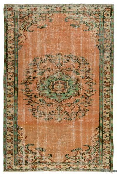 Turkish Vintage Area Rug - 5'6'' x 8'3'' (66 in. x 99 in.)