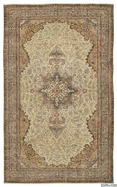 Turkish Vintage Rug - 5'5'' x 8'10'' (65 in. x 106 in.)