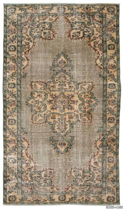 Turkish Vintage Area Rug - 5'1'' x 8'10'' (61 in. x 106 in.)