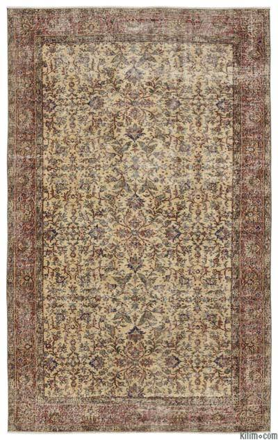 Turkish Vintage Area Rug - 5'4'' x 8'10'' (64 in. x 106 in.)