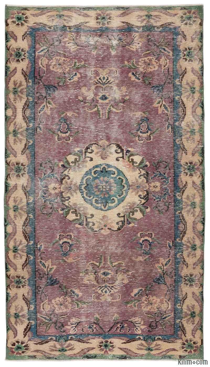 K0012756 Turkish Vintage Area Rug 5 1 Quot X 9 4 Quot 61 In X