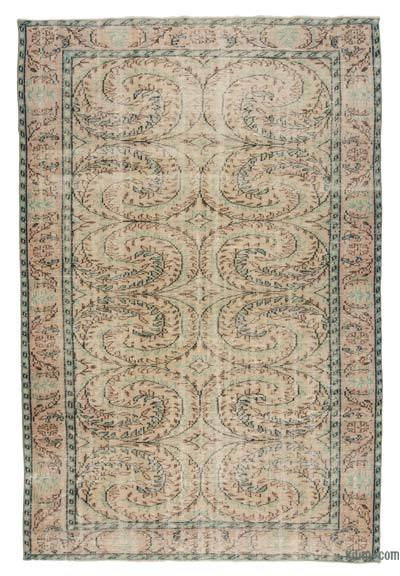 "Turkish Vintage Area Rug - 6' x 8'9"" (72 in. x 105 in.)"