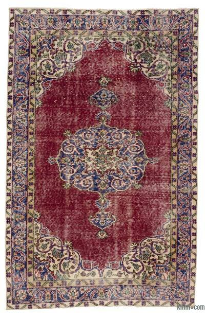 Turkish Vintage Rug - 4'1'' x 6'7'' (49 in. x 79 in.)