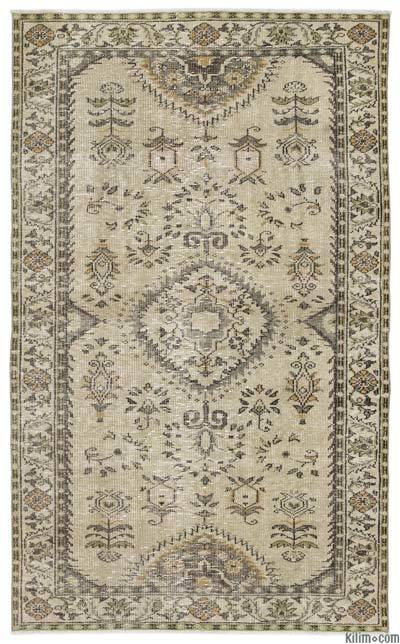 "Turkish Vintage Area Rug - 5' x 8'2"" (60 in. x 98 in.)"